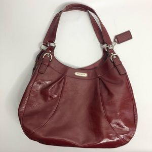 Coach Soho Plum Red Patent Leather Purse
